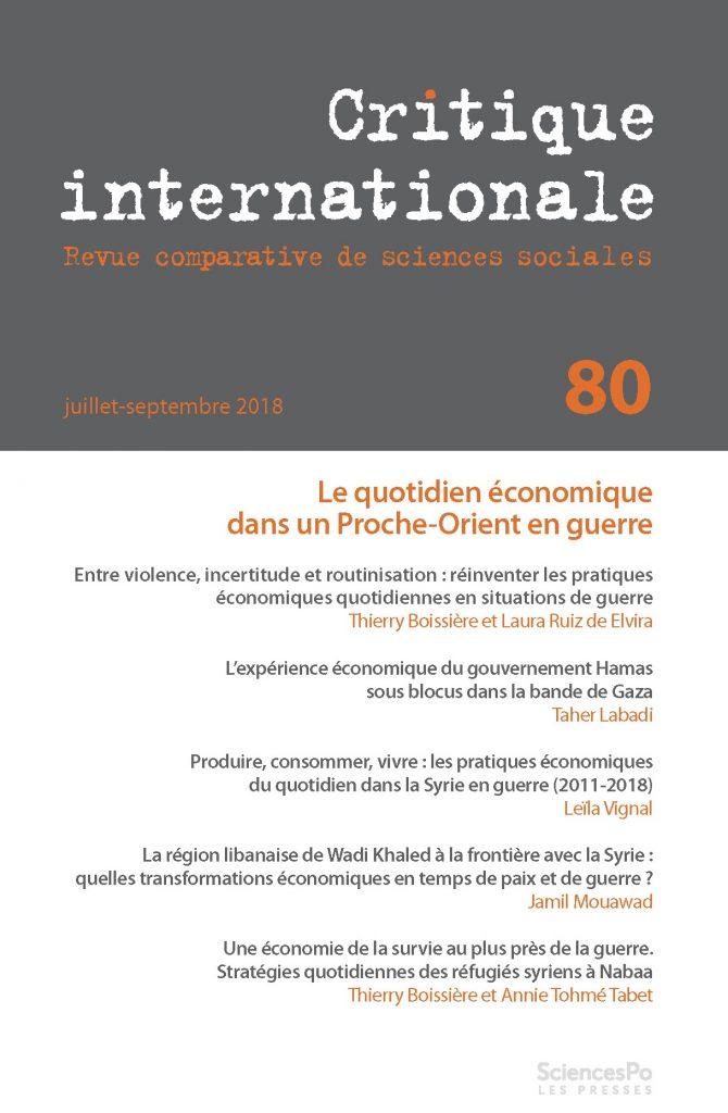 Critique internationale n°80