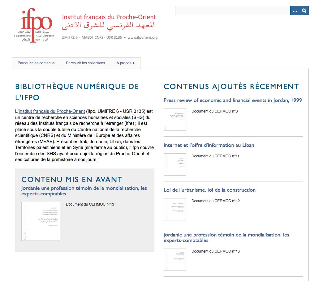 Bibliothèque numérique de l'Ifpo