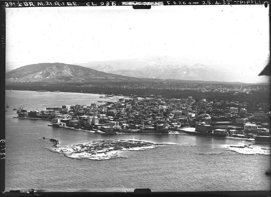 Vue aérienne du port de Tripoli (El-Mina, Liban)