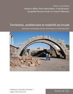 Couverture Territoires, architecture et matériel au Levant