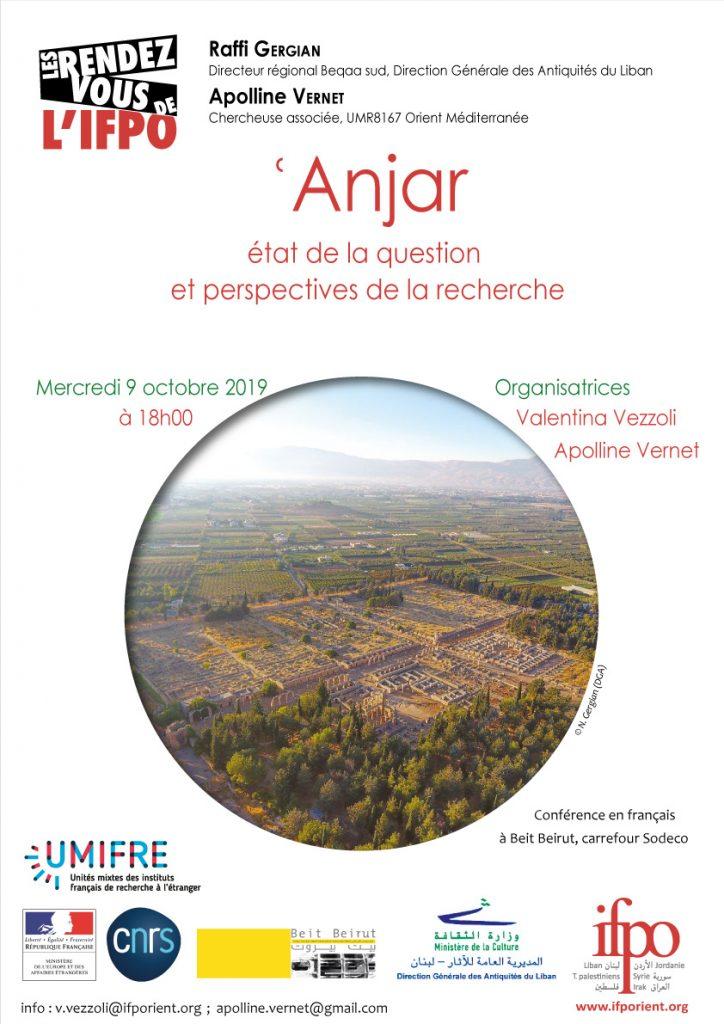 Affiche de la conférence 09 octobre2019