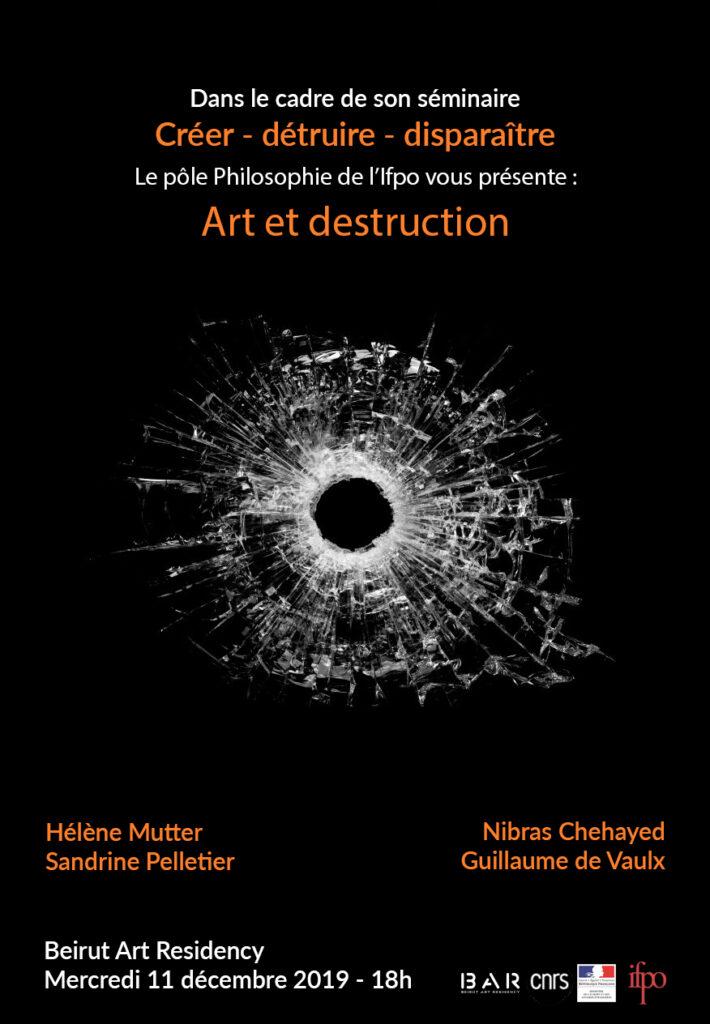 Affiche ate et destruction 11/12/2019