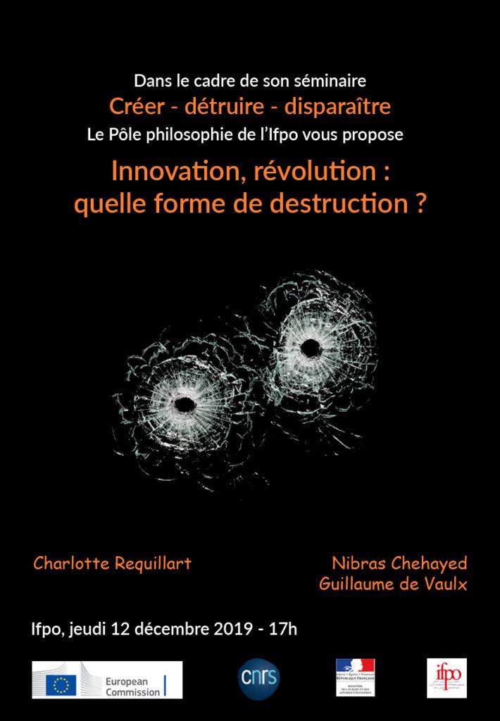 Séminaire annuel du Le pôle Philosophie de l'Ifpo « Créer – détruire – disparaître »